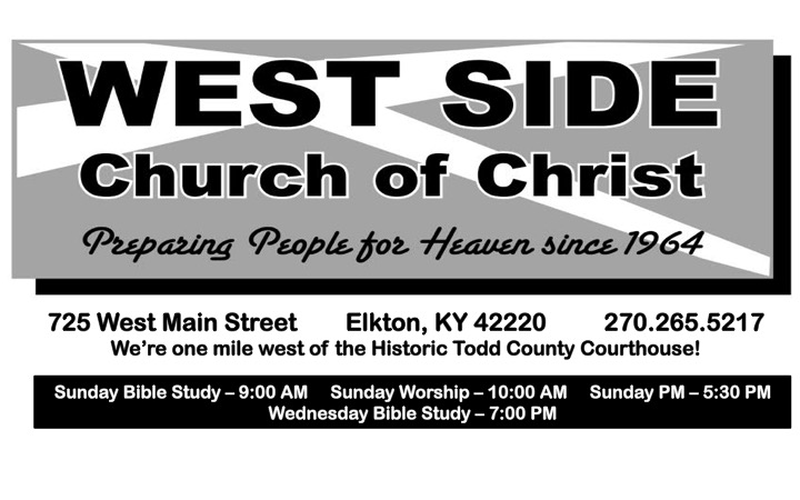 West Side Church of Christ | Elkton, KY